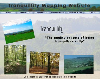 Tranquility Mapping showcase site