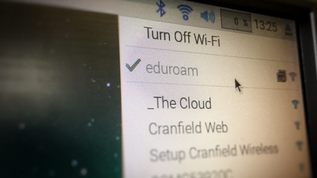 Raspberry Pi connected to eduroam wifi